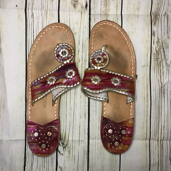 Jack Rogers Shoes - Jack Rogers pink multicolored Nantucket sandals